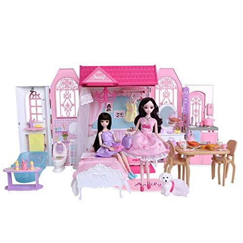 Ayy Niedliche Puppenhaus-Heim Kinder Simulation Dress Up Doll Gift Set Girl Play House Spielzeug 3-7 Jahre Geburtstagsgeschenk (Dress Up Doll Für Jungen)