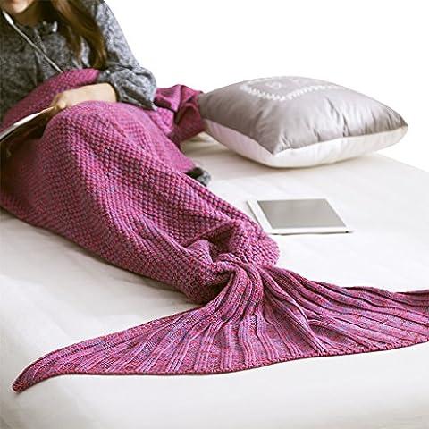 Mermaid Tail Blanket Handmade Knit Crochet Wrap