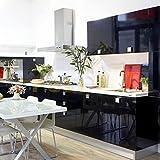 Hot Mueble de Cocina de Primera Calidad Engomada del PVC Auto Rollos de Papel Pintado Adhesivo para Muebles / Cocina / Baño 0.61 * 5M Pegatinas Hoja de Guarnición / Puerta del Armario de pared de Papel, Negro