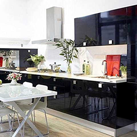 WillGou 5 x 0.61 M Klebefolie Küche Schrankfolie PVC Küchenfolie Küchenschrank-Aufkleber Wasserfest Möbelfolie Selbstklebend Tapeten für Möbel Dekofolie - (Großhandel Wand-aufkleber)