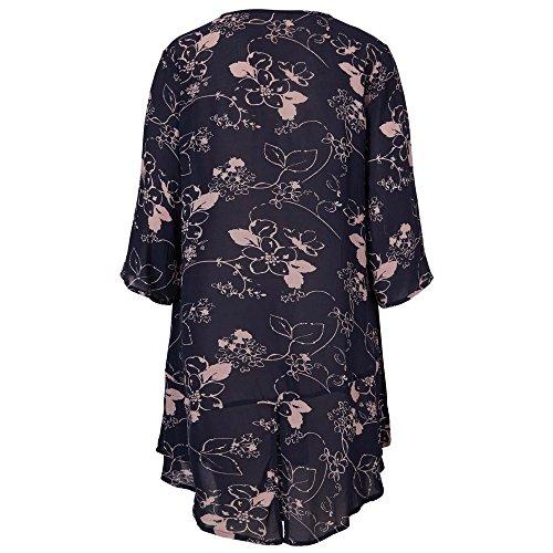Masai Clothing Damen Kleid Navy Org Navy Org
