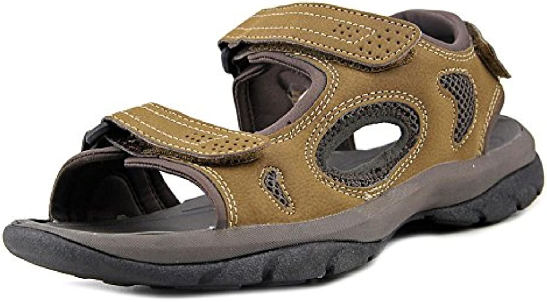 Dockers Men's Devon Brown/Brown/Khaki Distressed/Mesh Sandal