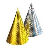 Susy Card 11221074 - Partyhüte, Holografie, 10 Stück