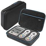 iAmer SNES Classic Mini Tasche, Hartschalen Tragetasche für Super Nintendo NES Classic Min Konsole, Controller, HDMI-Kabel und Andere Zubehör(2017)-Verbesserte Version