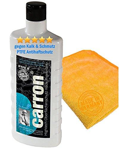 carron PTFE-II Glas-Versiegelung Set gegen Kalk-Schmutz Dusche Duschwand Badewanne Duschkabine Fliesen dauerhaft reinigen -