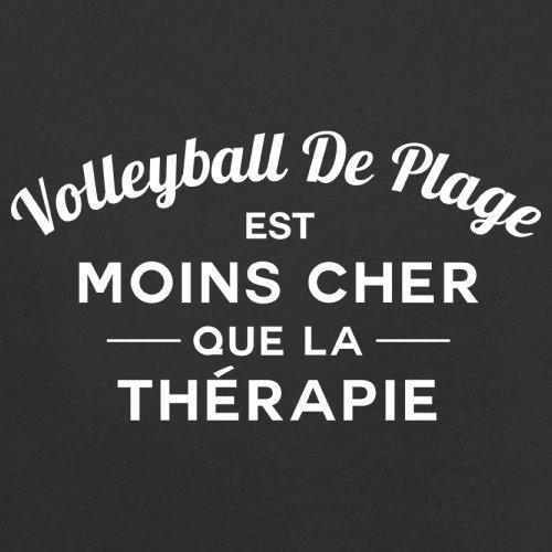 Volleyball de plage est moins cher que la thérapie - Femme T-Shirt - 14 couleur Noir