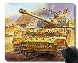 Tapis de Souris de Jeu personnalisé, Tapis de Souris Militaire Panzer IV avec Bord...