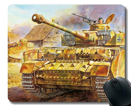Gaming Mouse Pad Benutzerdefinierte, militärische Panzer IV Mauspad mit genähtem Rand