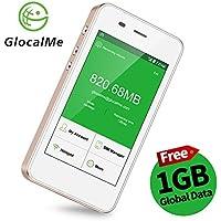 GlocalMe 4G Mobiler Hotspot mobiles WLAN mit Powerbankfunktion, SIMlock-frei ohne Roaminggebühren in über 100 Ländern mit 1 GB anfänglichen globalen Daten (G3-Gold)