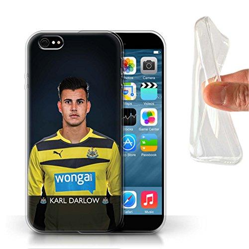 Officiel Newcastle United FC Coque / Etui Gel TPU pour Apple iPhone 6 / Rivière Design / NUFC Joueur Football 15/16 Collection Darlow