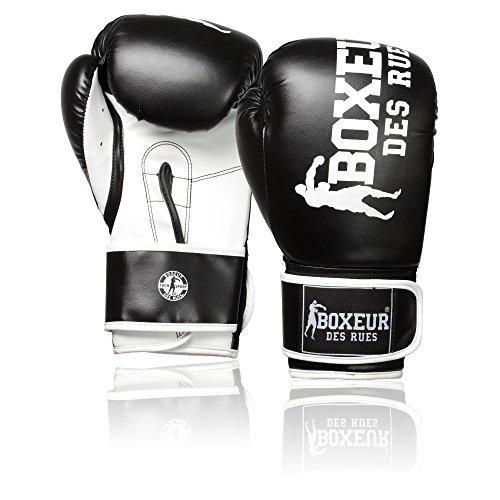 Boxeur Des Rues Fight Activewear Guantone da Boxe Impact Sintetico, Nero, 10 Oz