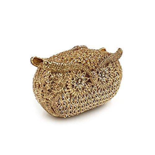 WYB Luxuxdiamantentwurfs Abendtasche / hochwertigen Kristall voller Diamanten Clutch Gold