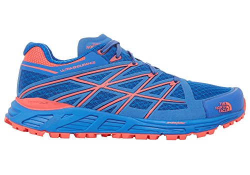 The North Face W Ultra Endurance, Zapatillas de Running para Mujer, Azul (Blue Quartz / Rocket Red), 38 EU