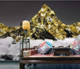 HONGYUANZHANG Golden Peaks Custom 3D Fototapete Künstlerische Landschaft Tv Hintergrundbild,24Inch (H) X 32Inch (W)