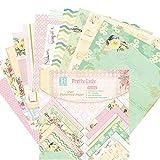 Somedays 24Blatt Scrapbooking Papier Gemustertes Karton Bastelpapier mit Vintage Design für DIY Handwerk Foto Hintergrund Deko 6 Zoll