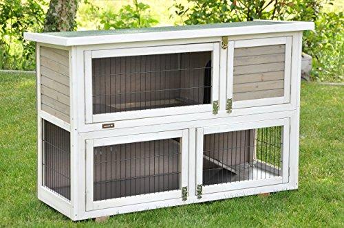Kaninchenstall Moritz 2 – praktisches Kleintierhaus für alle Lebenslagen (doppelstöckig) - 2