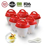 #8: Banggood Egg Cooker Boiler Kitchen Silicone Egg Poachers Home Egg Cooking Molds Hard & Soft Boiled Maker, Safe, Set of 6