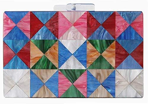 AK Frauen 'S Large Size Perlen Perle Abendkleid Strass Dekoration Bankett Clutch Bag Hochzeitsgeschenk Kleid Tasche Kette Umhängetasche Messenger Bag,Blau -