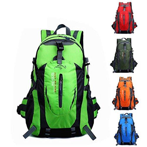 Fulltime® New 40L Mehrzweckwasserdichte Sport Hiking Camping Wandern Rucksack Wasserdichte Nylon Gepäck-Rucksack-Beutel, 50cm x 33cm x 20cm, 600g Dunkelblau