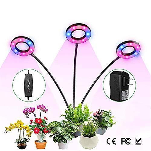 ZYG.GG Lampada per Piante 2019 Nuova Luce di riempimento di Crescita della pianta di 3 Clip, Lampada a Crescita Completa a Spettro Completo, con Una Funzione del Timer di Memoria