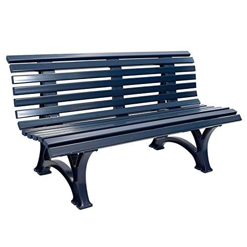Gartenbank HELGOLAND Blau, 3-Sitzer, Kunststoff