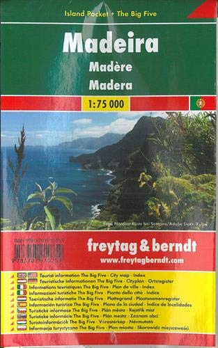 Madeira, Autokarte 1:75.000, Island Pocket + The Big Five, freytag & berndt Auto + Freizeitkarten -