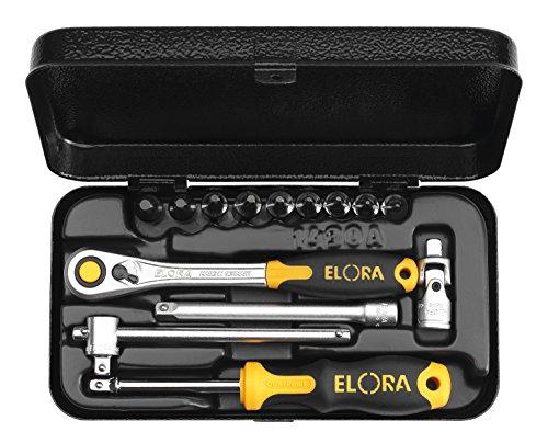 Elora 1430-TTXU Steckschlüssel-Satz 1/4 Zoll, Innen-Sicherheits-Schrauben, 14-teilig 8-40