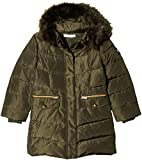 NAME IT Mädchen Jacke NMFMELA DOWN Jacket Camp, Grün Detail: with Forest Night Color Fur, 122