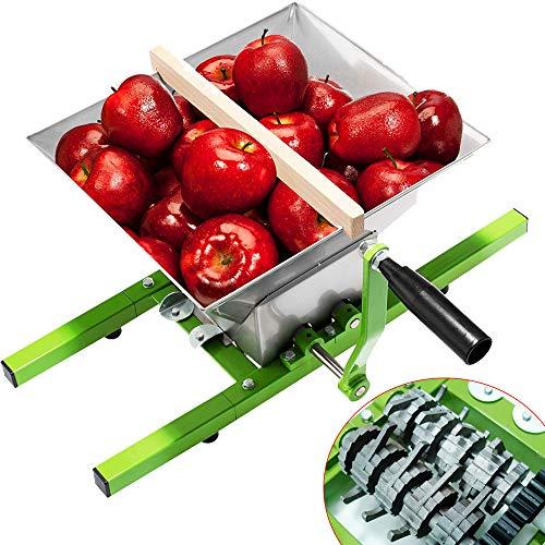 Aufun 7L Obstmühle Edelstahl Traubenmühle Maischemühle Obstpresse mit Handkurbel (Obstmühle, 7L)