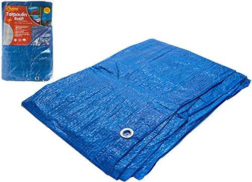 8ft X 6ft Blau Plane W/10Metall Ösen UV-geschützt Shrink Staub Proof Tabelle (6' Tabelle)