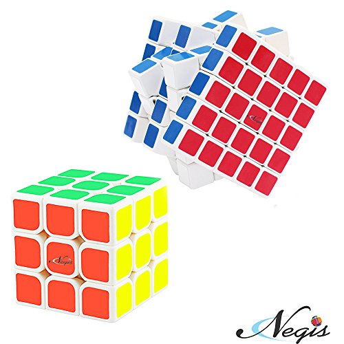 Negi 3x3 and 5x5 Combo Speed Cubes (Set of 2)