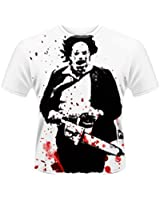 Official T Shirt TEXAS CHAINSAW MASSACRE Leatherface White All Sizes