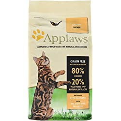 Applaws - Comida seca para gatos adultos, pollo, 2kg
