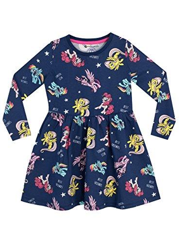Mein Kleines Pony Mädchen My Little Pony Kleid, 134 (Herstellergröße: 8 - 9 Jahre), Blau