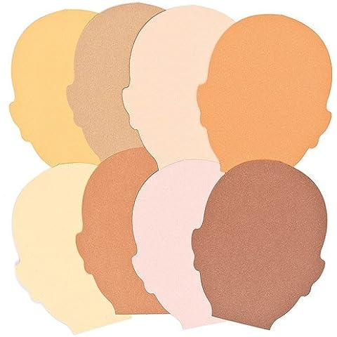 Ritagli a Forma di Viso in Varie Tonalità di Pelle per Attività Multiculturali da Dipingere, Decorare e Personalizzare (confezione da 50)