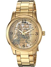 eWatchFactory Men's 'EW Lords' Quartz Metal and Stainless Steel Casual Watch, Color:Gold-Toned (Model: PW00216)