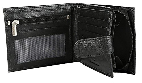 9ce97d04f1799 RFID BLOCKING MENS DESIGNER BUONO PELLE GENUINE REAL SOFT LEATHER WALLET  WITH LARGE ZIP COIN POCKET