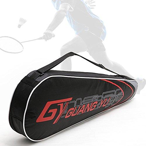 Unisex Badmintonschläger Schutzhülle Tasche Familienart Badminton Schläger Riemen Taschen mit praktischem Tragriemen wasserdichtes Schlägerhülle für den Schutz von Badminton oder Squashschlägern
