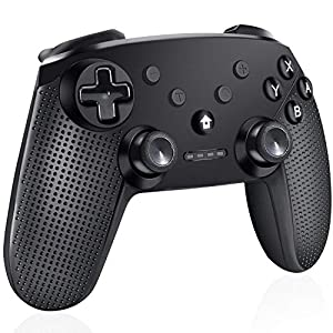 Cypin Wireless Controller für Nintendo Switch Bluetooth Switch Pro Controller mit Dual-Vibration und 6-Achsen Gyroskop Gamepad Joystick Joypad für Nintendo Switch (Schwarz)