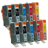 10 Druckerpatronen kompatibel zu HP 364 XL/N9J74AE (4x Schwarz, 2x Cyan, 2x Magenta, 2x Gelb)