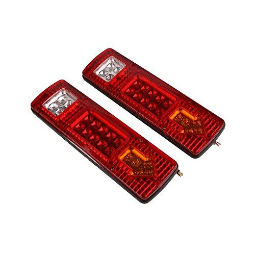 5 Licht Anhänger (Sedeta 2PCS wasserdichter LED-Auto-Anhänger-Endstück-Licht-LKW-Wende-Signal-Stopp-Anzeige 24v 5W)