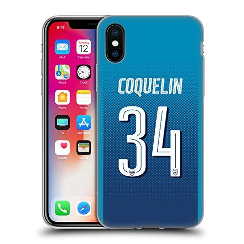 Officiel Arsenal FC Alexandre Lacazette 2017/18 Joueurs Kit Loin Groupe 2 Étui Coque en Gel molle pour Apple iPhone 6 / 6s Francis Coquelin