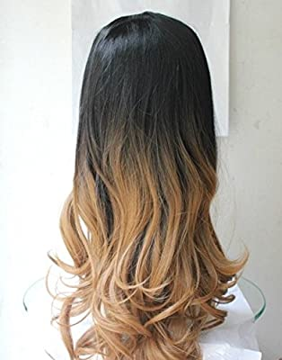 Ladies 3/4 Wig Fall Clip In Hair Piece Extensions Ombre Dip dye by Jimmystar