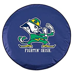 Holland Bar Stool Co 24 Inch x 8 Inch : Holland Bar Stool Notre Dame (Leprechaun) Tire Cover In Navy