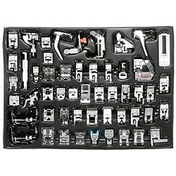Icase4u® Kit de 52pièces multifonctionnelles Pied de biche pour machine à coudre Kit de 52 pièces