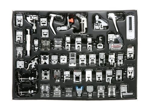 Icase4u® - set di 52 piedini multifunzionali premistoffa. accessori per macchina da cucire a pedale. kit di 52 pz