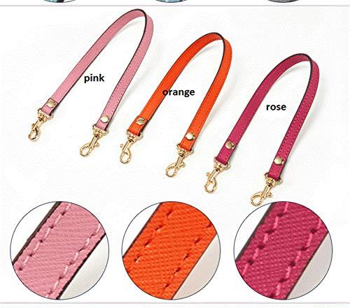 Echtes Leder 1,2 * 33 cm Ersatz Kurze einzelne Schultergurte Tasche Zubehör Taschengriffe Kreuzmuster -