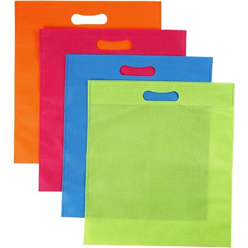 Sac Multi, l: 31 cm, h: 35 cm, orange, rose, bleu, vert, 40pièces