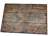 Antike Weltkarte Auf Holz Landkarte Vintage Antik Karte Alte Welt Globus Loft 54 x 76 x 4 cm