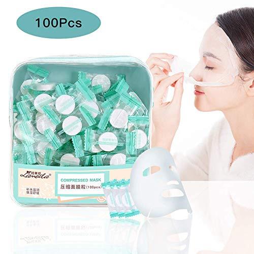 100pcs Komprimierte Gesichtsmaske Trockenes Blatt Papier Natürliche Gesichtsmaske Blatt Baumwolle Ultradünnes Compressed Mask Papier-schablonen Für Die Tägliche Hautpflege
